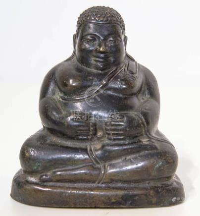 Bronze statuette, China, 17the century. Buddha. Lost-wax. Cm