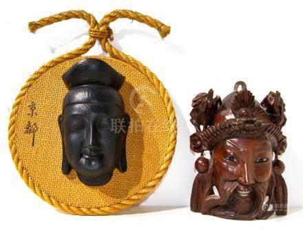 Pair of masks - China.
