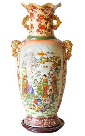 Porcelain vase. China, 20th century. H Cm 60