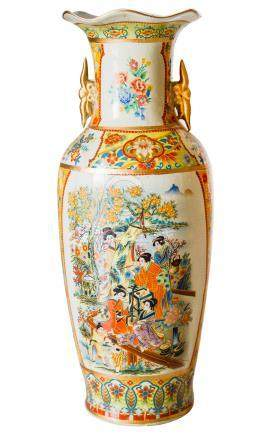 Porcelain vase. China, 20th century. H Cm 44