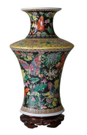 Double cylinder vase. China, 20th century. H Cm 42