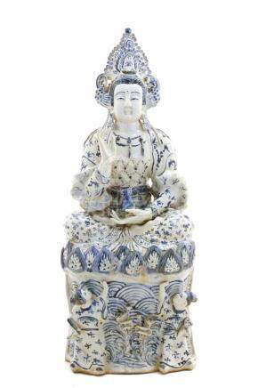 Chinese figure in white Porcelain, China, 20th century . Wit