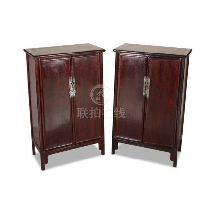 Stunning Pair of Chinese Two Door Cabinets,