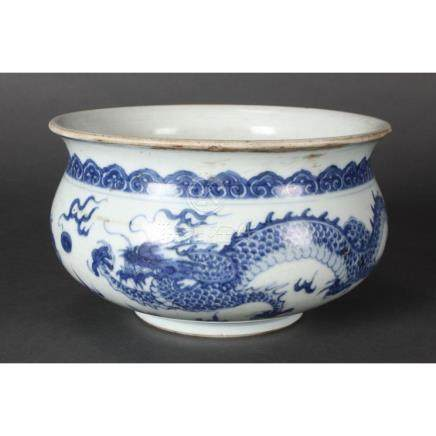 Chinese Qing Dynasty, Kangxi Period Blue and White