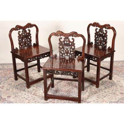 Excellent Set of Three Chinese Armchairs,