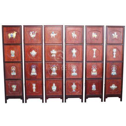 Delightful Chinese Six Panel Screen,