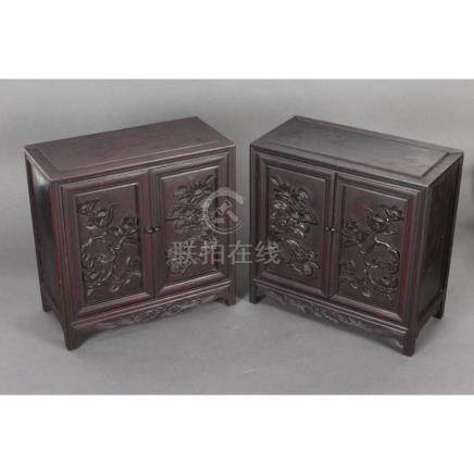 Pair of Chinese Table Cabinets,