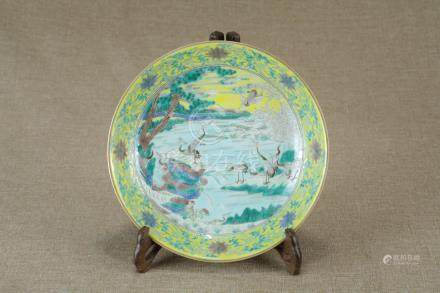 China, Famille Rose Plate