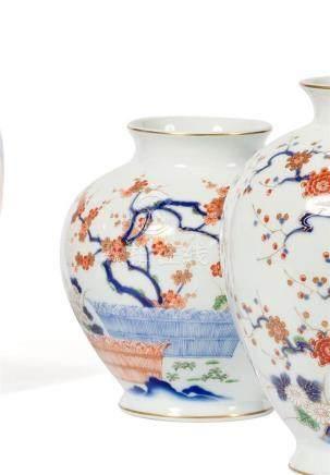 VASE ovoïde en porcelaine à décor kakiemon…