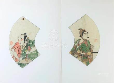 BUNCHŌ. Yakusha-e: Ichimura Uzaemon X. SHUNSHO. Yakusha-e: I