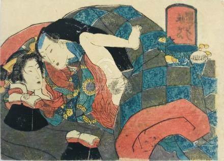 KUNISADA. SHUNGA-Erotic Print.