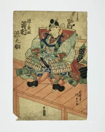 KUNISADA. MUSHA-E: Samurai.