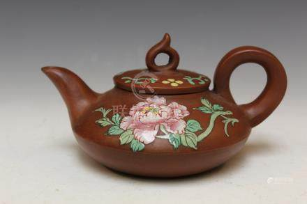Chinese Yixing teapot, mark on the bottom.