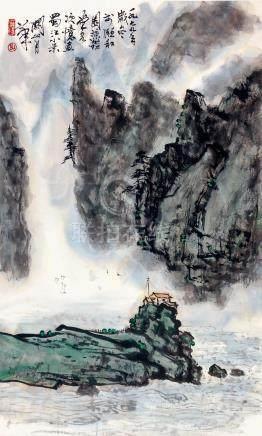 關山月  蜀江小景
