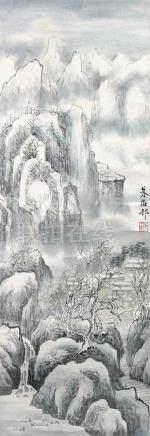 朱梅邨  山居雪後