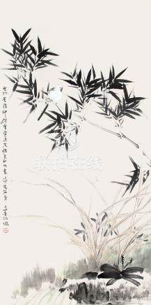 霍春陽  蘭竹