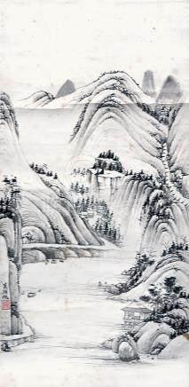 吳湖帆  山青水靜圖