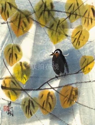 林風眠  秋葉小鳥