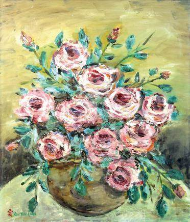 顏雲連  玫瑰花