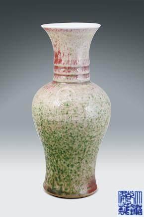清  豆青釉花瓶