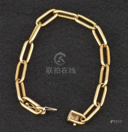 Bracelet à mailles en or jaune 18 K P. 29,7 g L. 20.5 cm