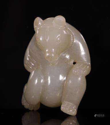Jade Ornament in Bear Form from Han Dynasty