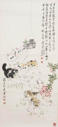 SUN JUSHENG (1913-, ATTRIBUTED TO), CATS