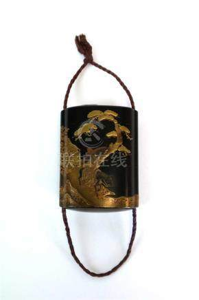 A Japanese Meiji period four case lacquered inro