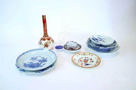 A mixed selection of Japanese and Chinese wares