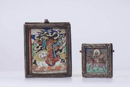 Two Chinese Tangka