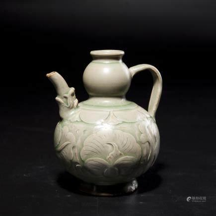 A Chinese Celadon Porcelain Double Gourd Vase