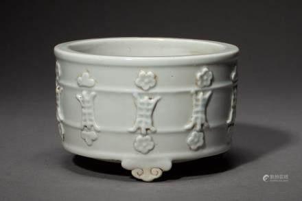 A Chinese Dehua Porcelain Incense Burner