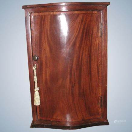 Hand Crafted 19th C English Mahogany Apprentice Piece Cabinet