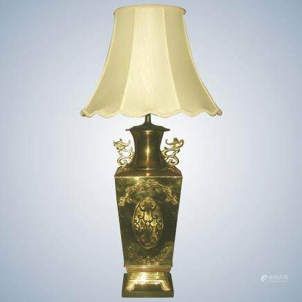 Brass Oriental Lamp 3 Way Early 1900's