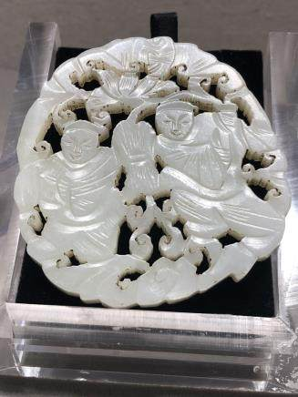 A HETIAN JADE CARVED PLAQUE, QING DYNASTY