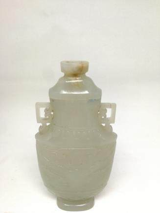 A HETIAN JADE CARVED VASE, QIANGLONG PERIOD