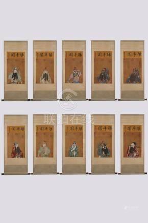 LANG SHI NING (朗世宁)SIX OF HANGING SCROLLS