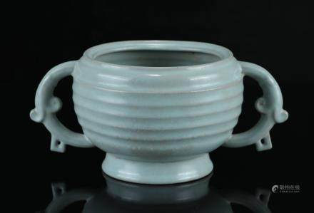 A Chinese Ru-Type Porcelain Incense Burner
