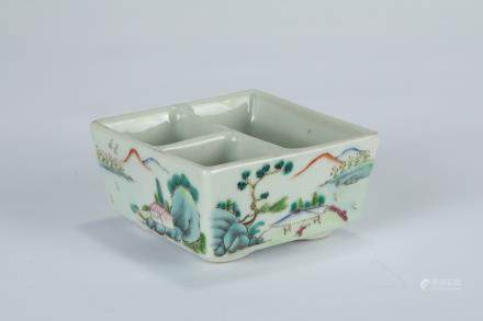 A Chinese Famille-Rose Porcelain Brush Washer