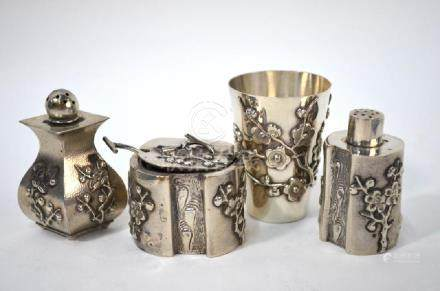 Chinese export silver items