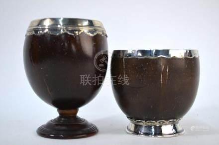 Antique coconut cups