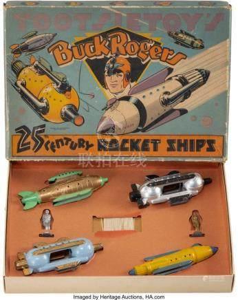56011: A Tootsietoy Buck Rogers 25th Century Rocket Shi