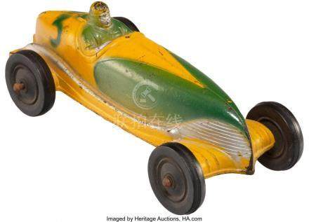 56013: A Sun Rubber Company Painted Rubber Toy Race Car
