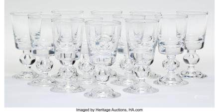 56030: Twelve Steuben 7926 Pattern Port Wine Glasses, C