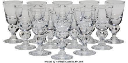 56034: Twelve Steuben 7877 Pattern Wine Glasses, Cornin
