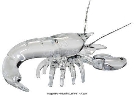 56035: Steuben Silver and Glass Lobster Desk Ornament D
