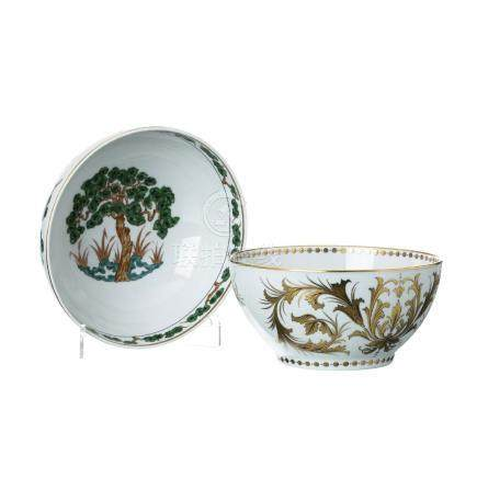 Two bowls in Vista Alegre porcelain