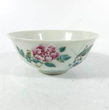 A Chinese famille rose bowl, 18th century, Qianlong,