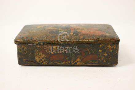 Antique Persian hand painted lacquer box