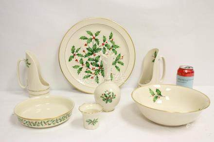7 pieces Lenox Christmas china